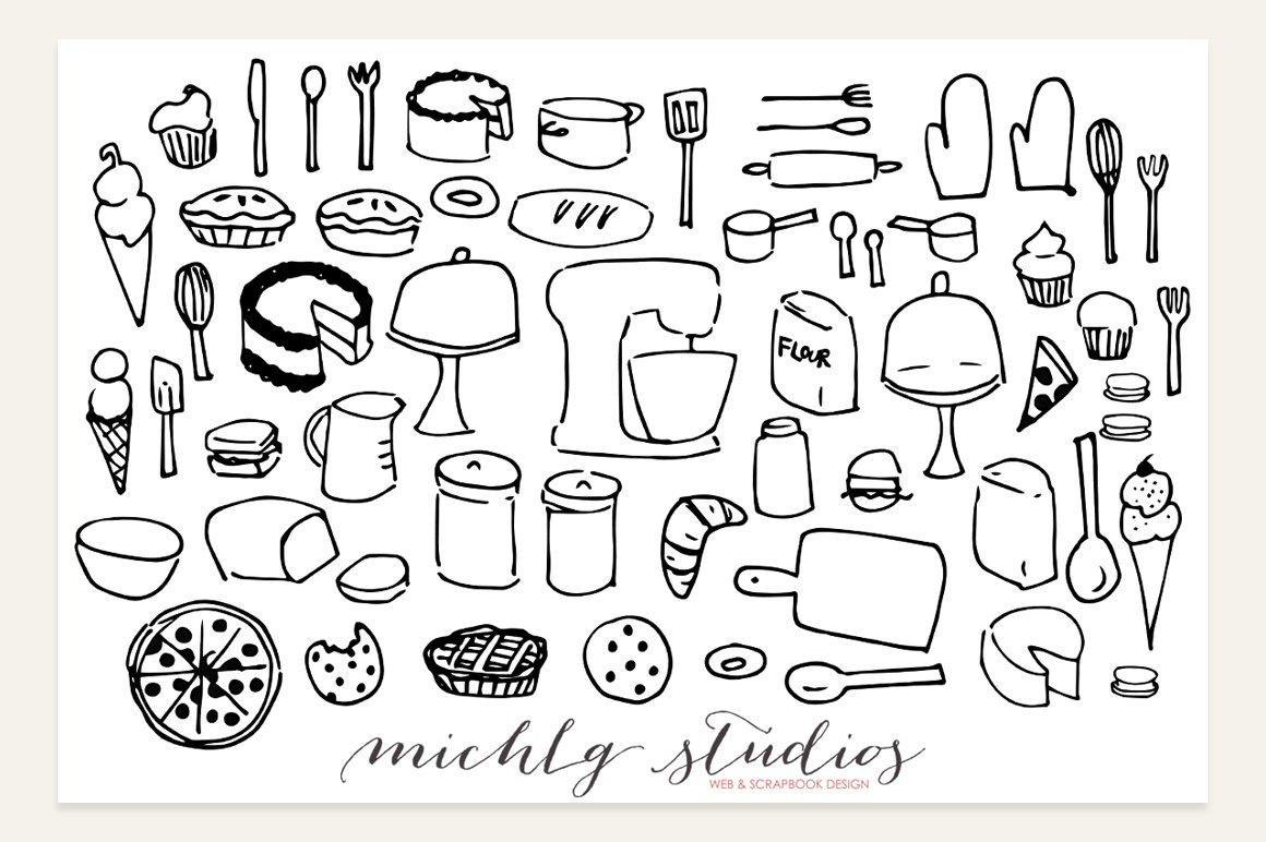 Baking Clipart Vector & PNG ~ Illustrations ~ Creative Market