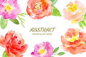 Watercolor Clipart Abstract