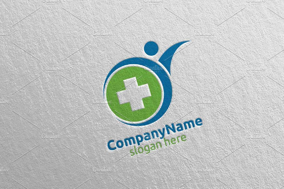Health Care Cross Medical Logo 63 in Logo Templates - product preview 8