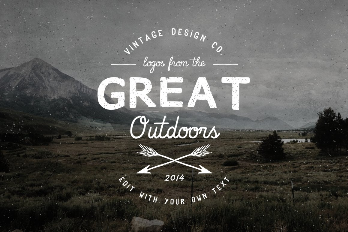 logos from the great outdoors logo templates creative market