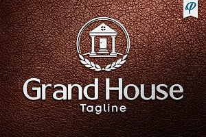Grand House - Real Estate Logo