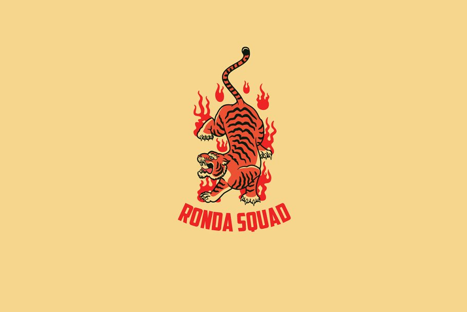 Ronda Squad Logo Template in Logo Templates - product preview 8