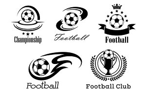Football and soccer emblems or badge