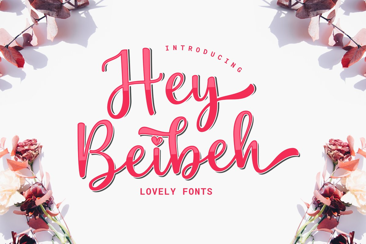 Hey Beibeh - lovely font in Script Fonts - product preview 8
