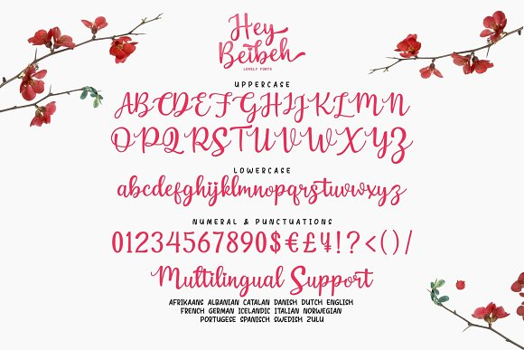 Hey Beibeh - lovely font in Script Fonts - product preview 9