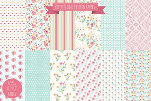 Pretty Floral Digital Papers