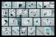 Vertical Bifold Brochure Mockup Set
