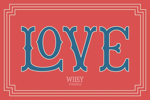 Wiley Decorative Latin & Greek Font in Display Fonts - product preview 3