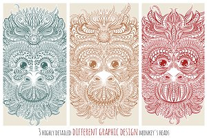 Different design of monkeys