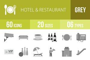 60 Hotel&Restaurant Greyscale Icons