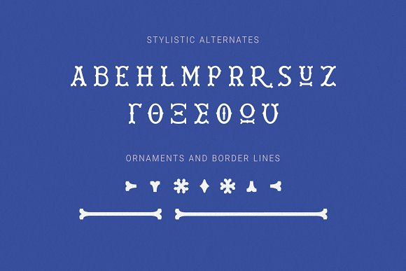 Wiley Decorative Latin & Greek Font in Display Fonts - product preview 14