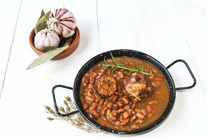 Traditional Spanish stew of beans