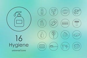 16 hygiene  icons