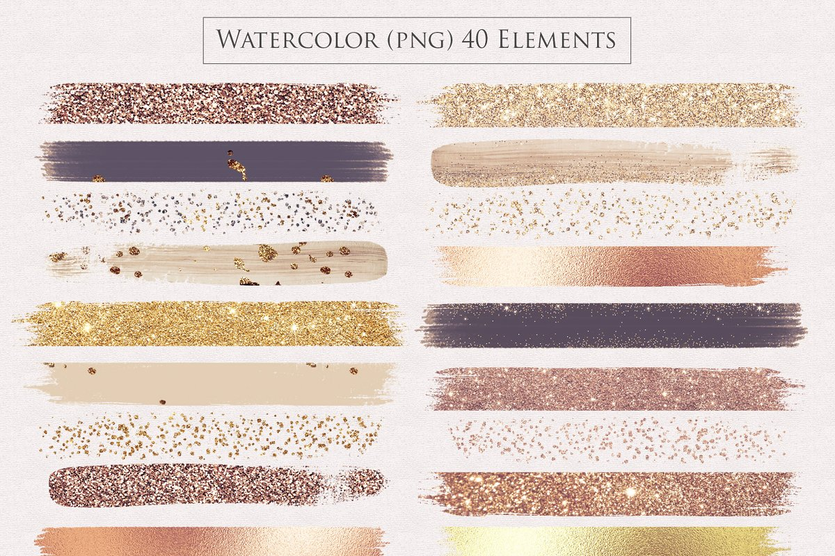 Watercolor Brush Strokes Png Overlay in Textures - product preview 8