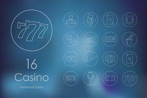16 casino icons