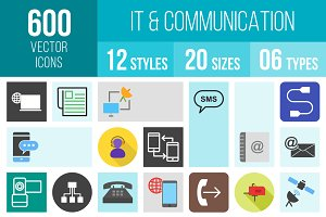 600 IT & Communication Icons