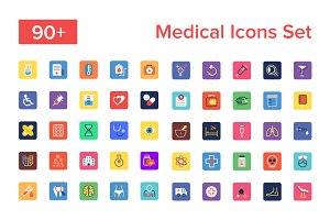 90+ Medical Icons Set