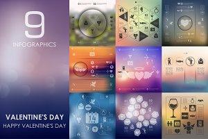 9 Valentine's Day infographics