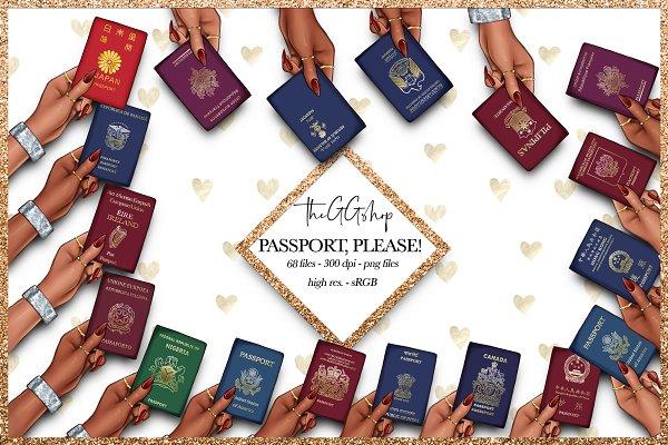 Passport Cliparts
