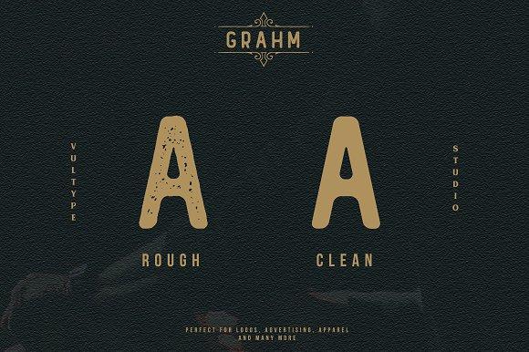 GRAHM Vintage Sans Serif in Sans-Serif Fonts - product preview 5