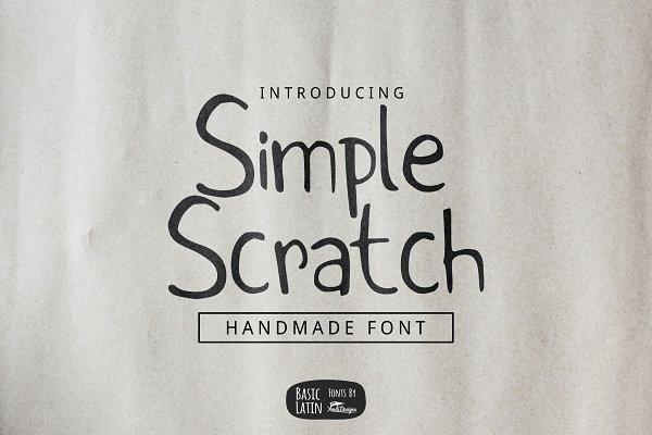 Simple Scratch Font (70% OFF)