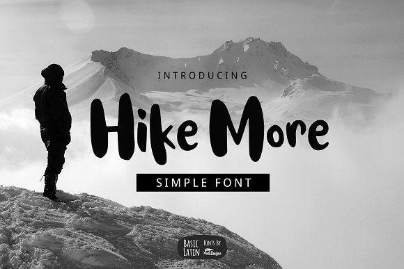 Hike More Font in Sans-Serif Fonts - product preview 3