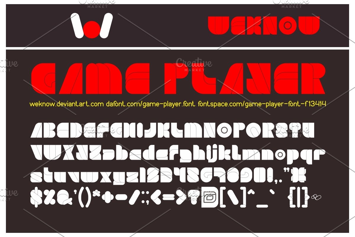 Game Player Font in Display Fonts - product preview 8