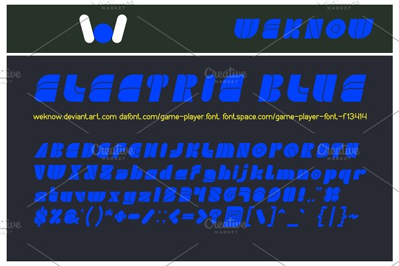 Game Player Font in Display Fonts - product preview 1