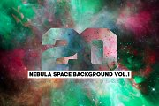 20 Nebula Space Background Vol.1