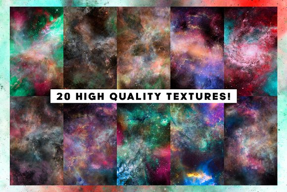 20 Nebula Space Background Vol.1 in Textures - product preview 1