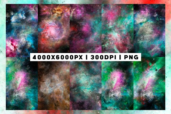 20 Nebula Space Background Vol.1 in Textures - product preview 2