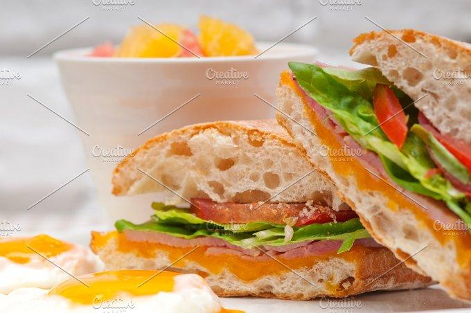 eggs tomato lettuce ciabatta sandwich 03.jpg - Food & Drink