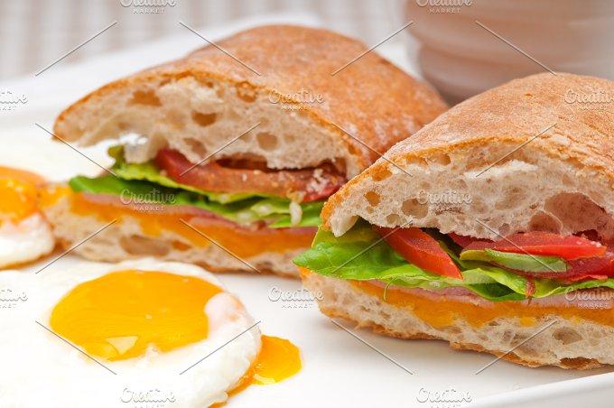 eggs tomato lettuce ciabatta sandwich 05.jpg - Food & Drink
