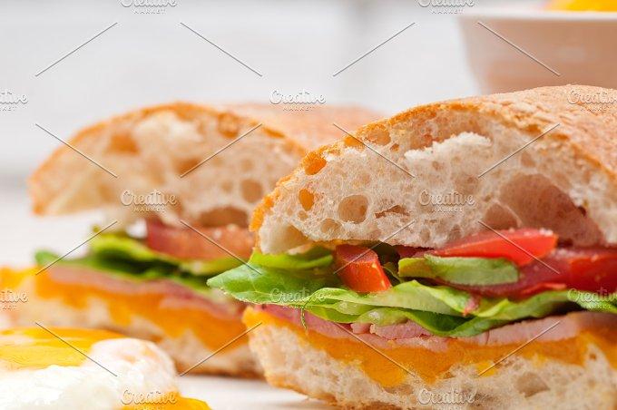 eggs tomato lettuce ciabatta sandwich 07.jpg - Food & Drink