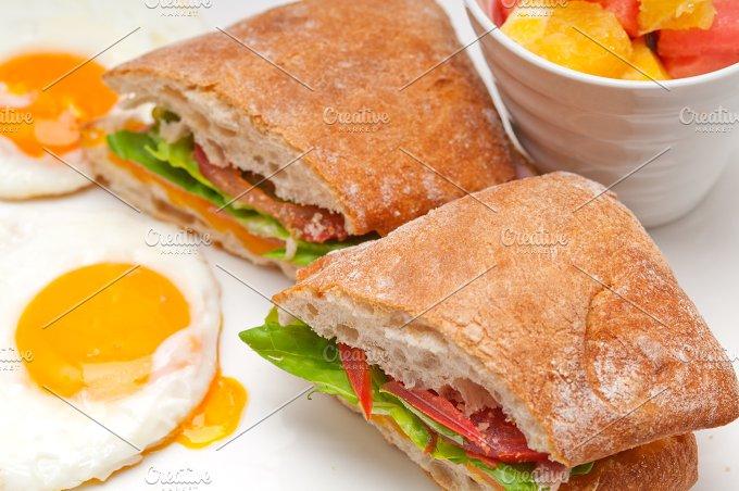 eggs tomato lettuce ciabatta sandwich 06.jpg - Food & Drink