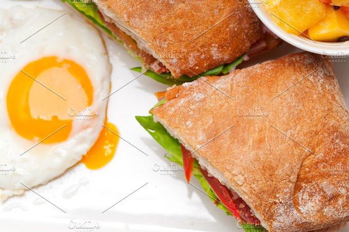 eggs tomato lettuce ciabatta sandwich 12.jpg - Food & Drink
