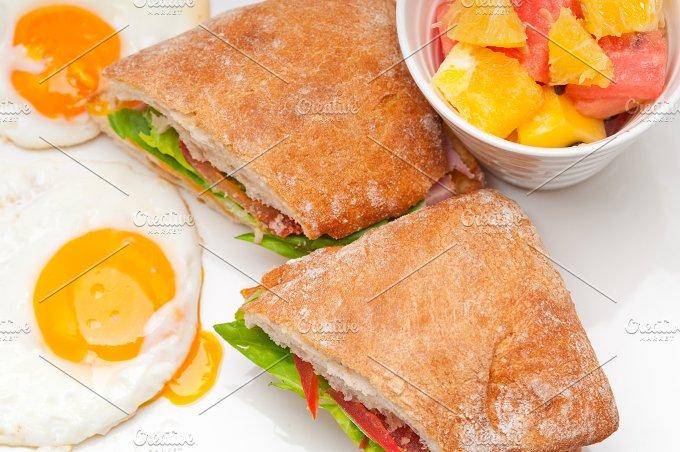 eggs tomato lettuce ciabatta sandwich 10.jpg - Food & Drink