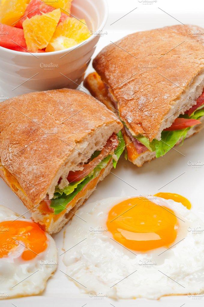 eggs tomato lettuce ciabatta sandwich 17.jpg - Food & Drink