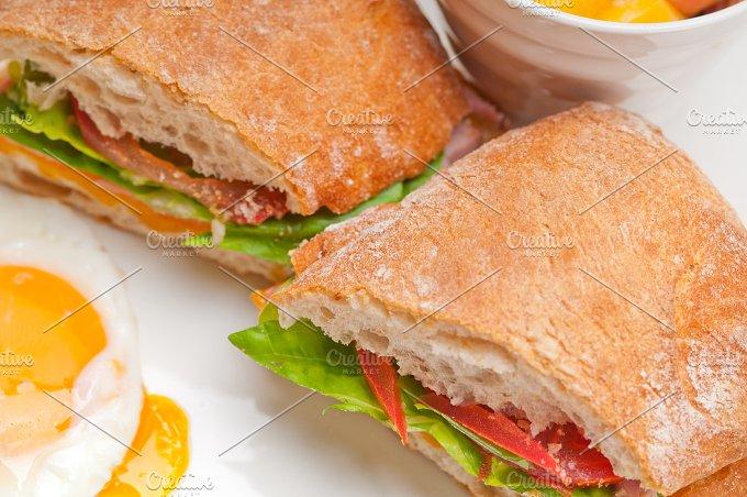 eggs tomato lettuce ciabatta sandwich 18.jpg - Food & Drink