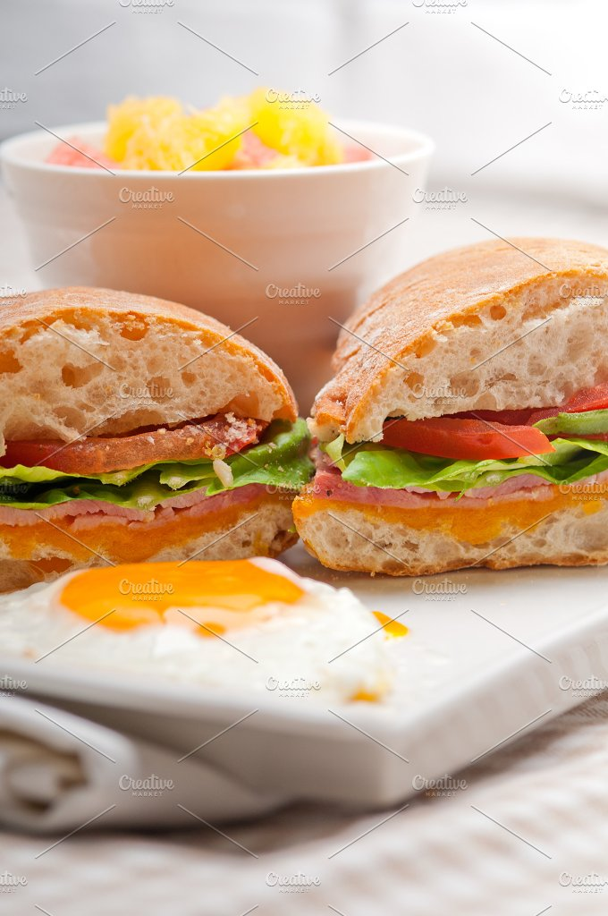 eggs tomato lettuce ciabatta sandwich 20.jpg - Food & Drink