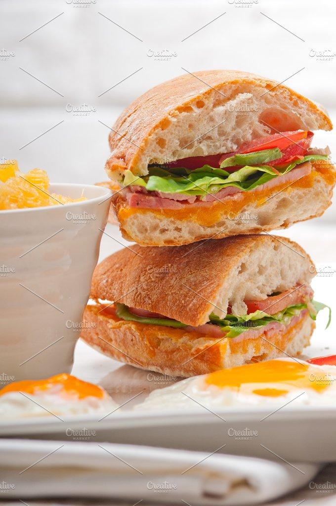 eggs tomato lettuce ciabatta sandwich 23.jpg - Food & Drink