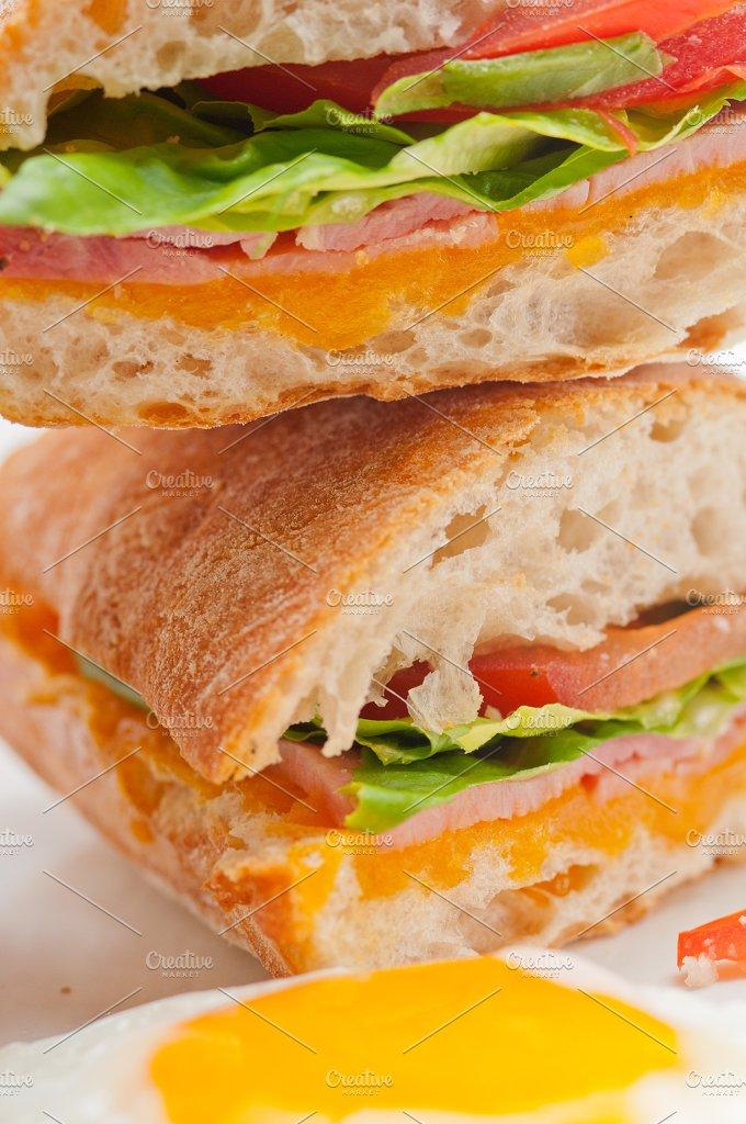 eggs tomato lettuce ciabatta sandwich 25.jpg - Food & Drink