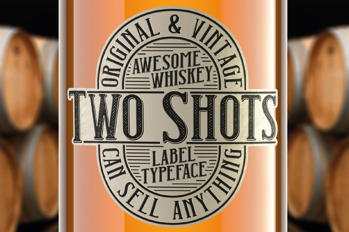 Two Shots label font in Display Fonts - product preview 8