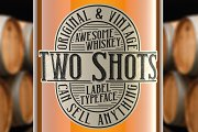 Two Shots label font