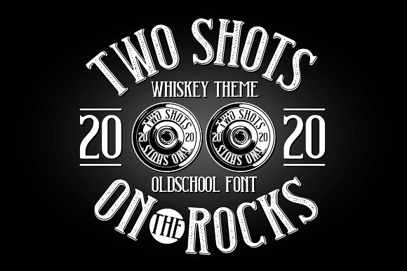 Two Shots label font in Display Fonts - product preview 3