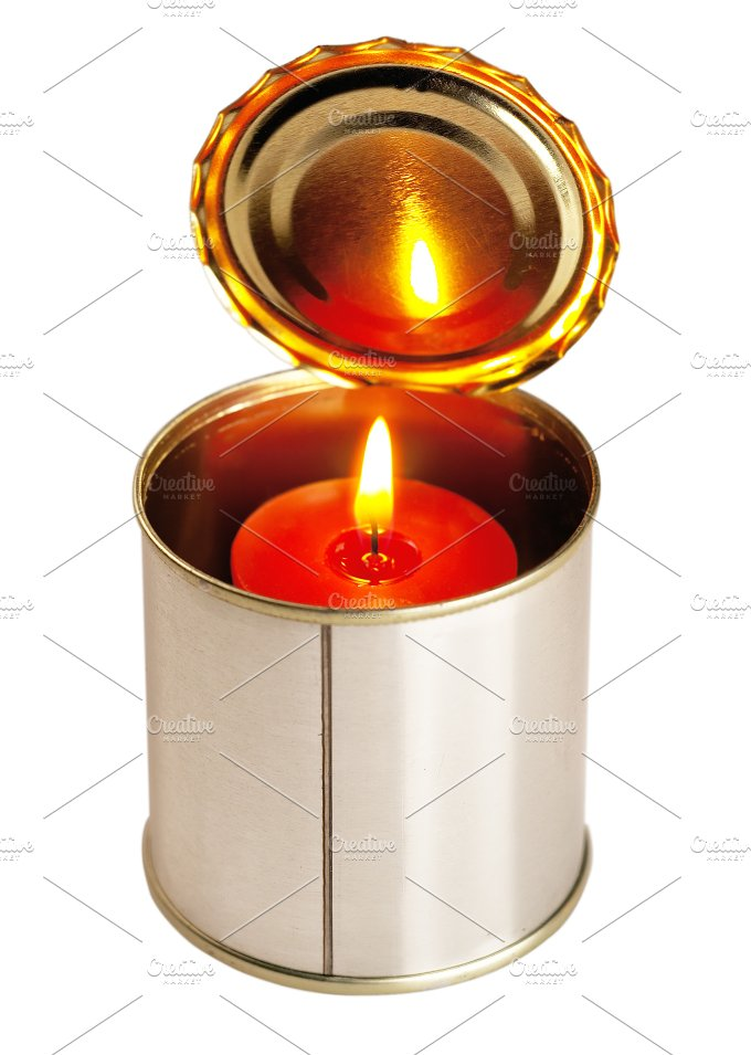 candle and tin can 3.jpg - Food & Drink