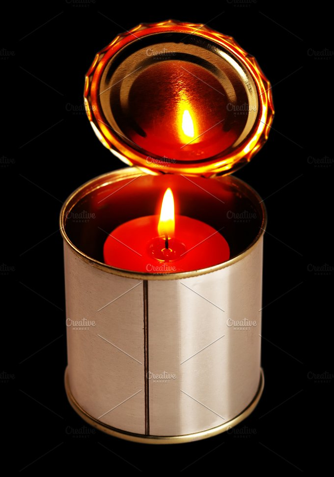 candle and tin can 2.jpg - Food & Drink