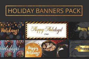 Happy Holidays Multi-purpose Banners
