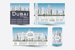 Corporate templates set with Dubai