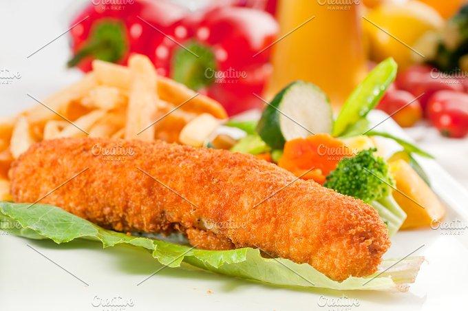 chicken breast roll and vegetables 08.jpg - Food & Drink